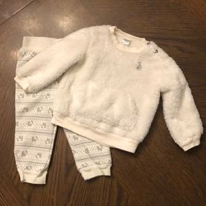 Toddler two piece, winter outfit.